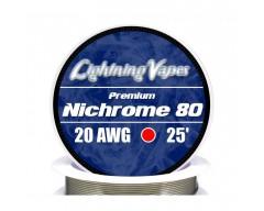 Bobina Nichrome 80 0.4x0.1 7,5 Metros - Lightning Vapes